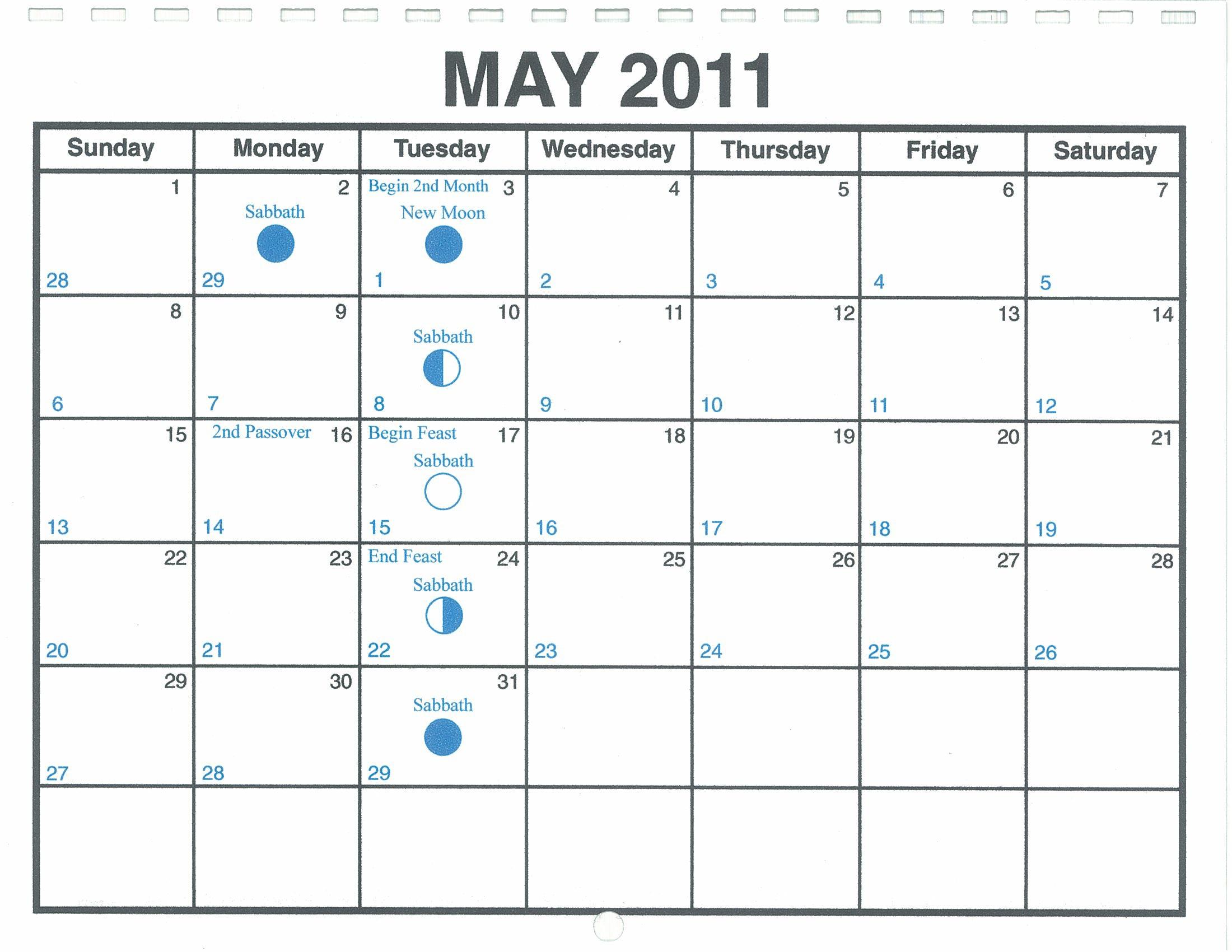 may 2011 lunar calendar  u2014 one yahweh