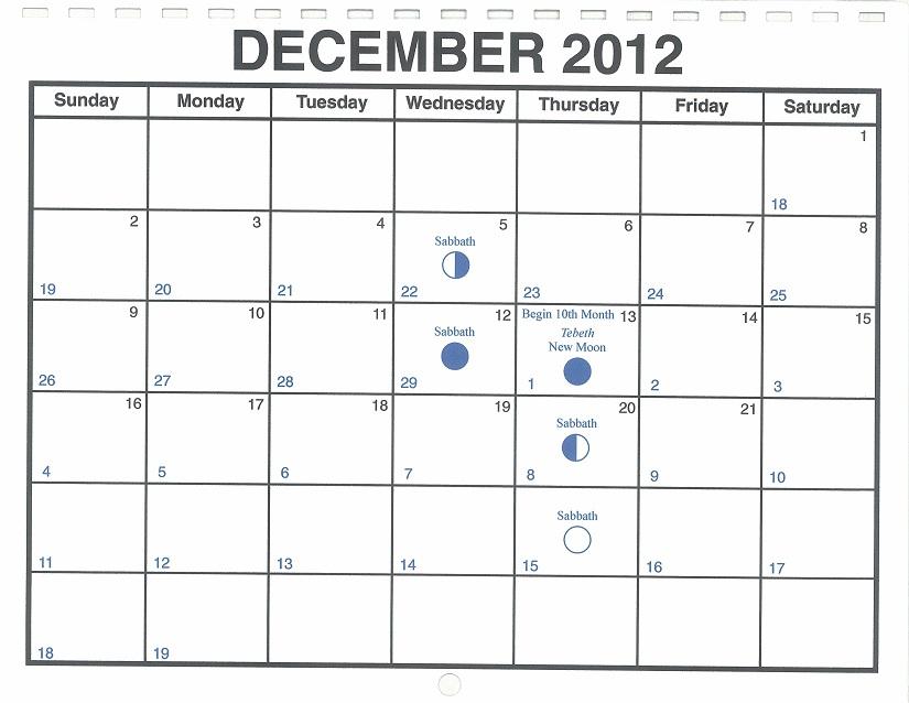 december 2012 lunar calendar  u2014 one yahweh